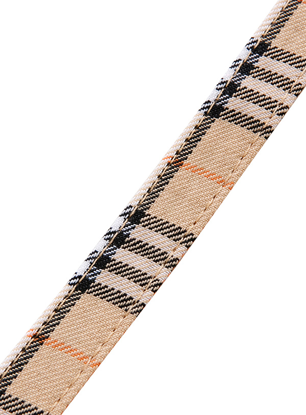 Brown Checked Tartan Tyghalsband
