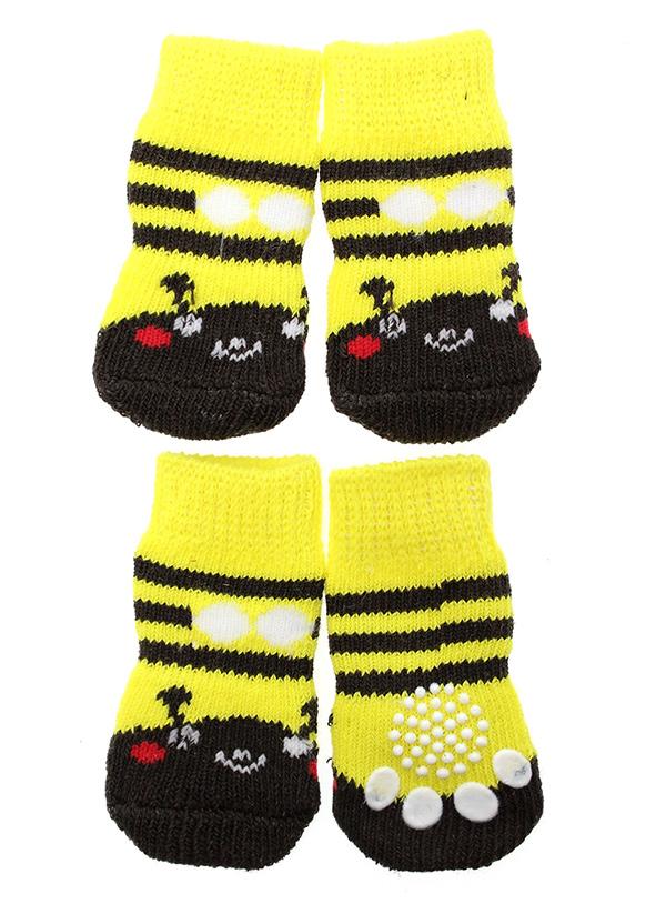 Bumblebee Pet Socks Gul/Svart - Hundkläder