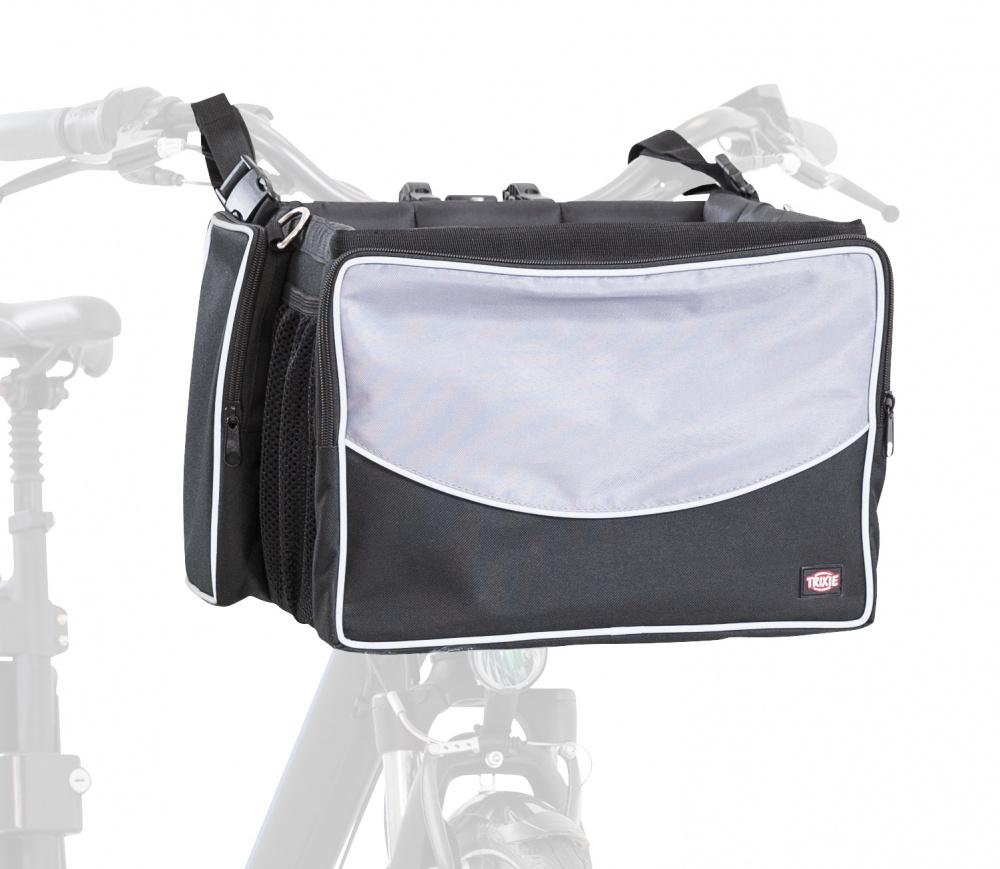 Cykelkorg Front Upp till 7 kg - Svart/Grå