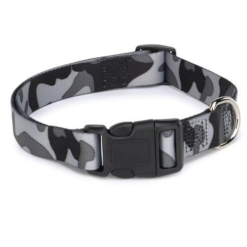 GG Camo Collar Svart Hundhalsband - XL