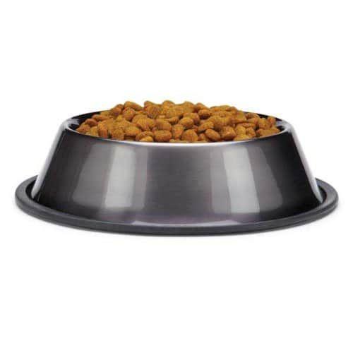Dura-Gloss Metallic Stainless Steel Bowl - Grå - S - Mat / Godis