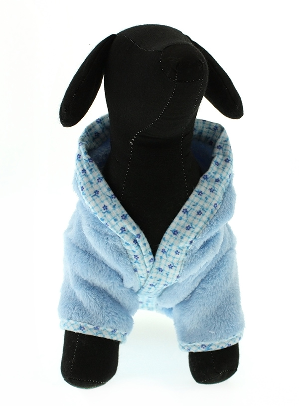 Blue Plush & Fluffy Terry - Hundbadrock