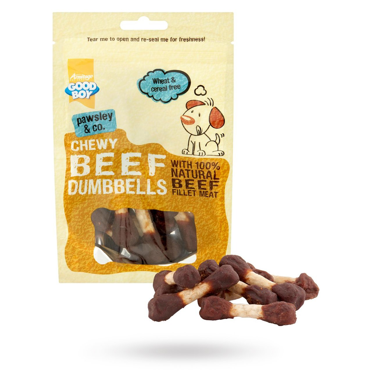 Chewy Beef Dumbbells 100g