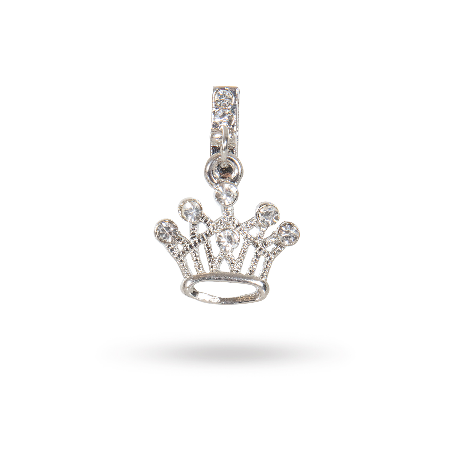 Crown Clear Dangling Charm