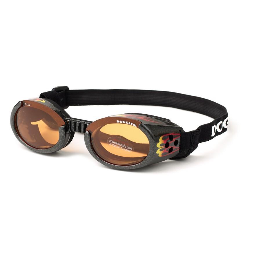 Hundglasögon ILS - Racing Flames / Orange Lens - Hundkläder