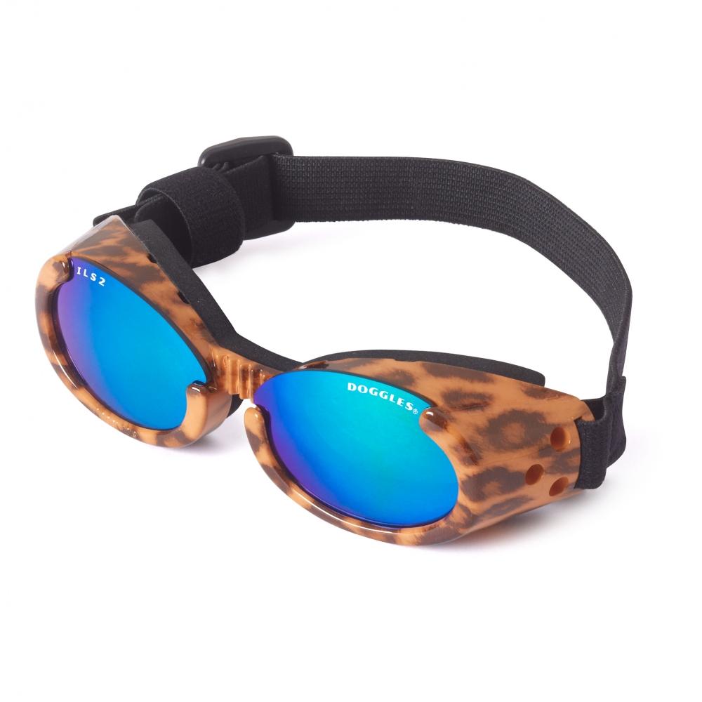 Hundglasögon ILS - Leopard / Blue Lens