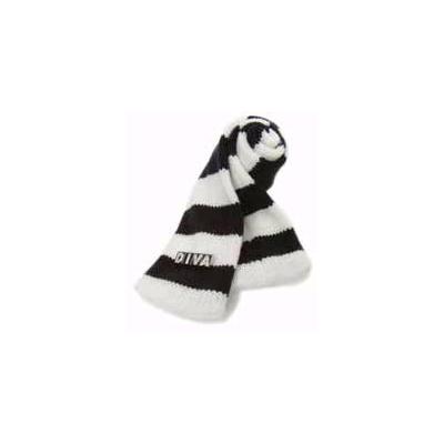 Diva Stripe Scarf Black