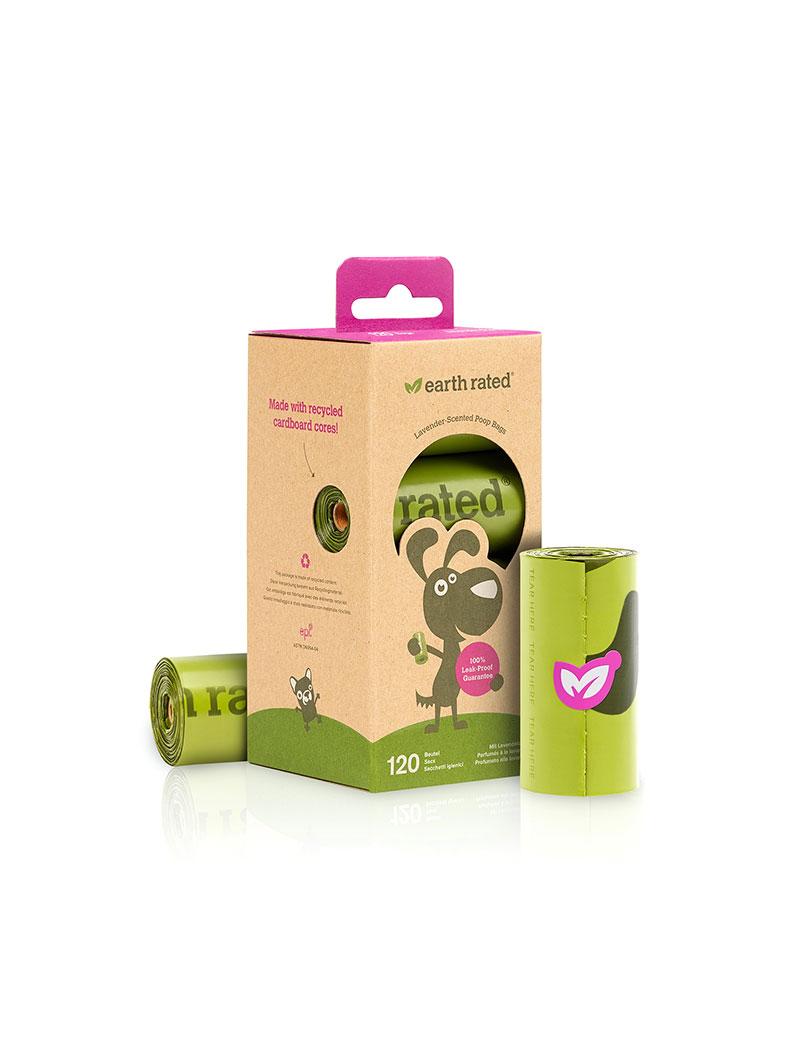 Earth Rated Miljövänliga Bajspåsar Refills 8-pack Lavendel