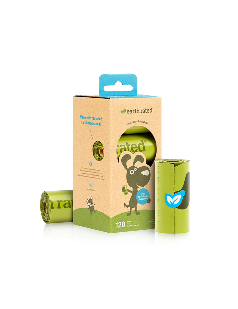 Earth Rated Miljövänliga Bajspåsar Refills 8-pack
