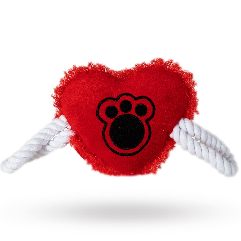 Mjuk Hundleksak - Hjärta Röd