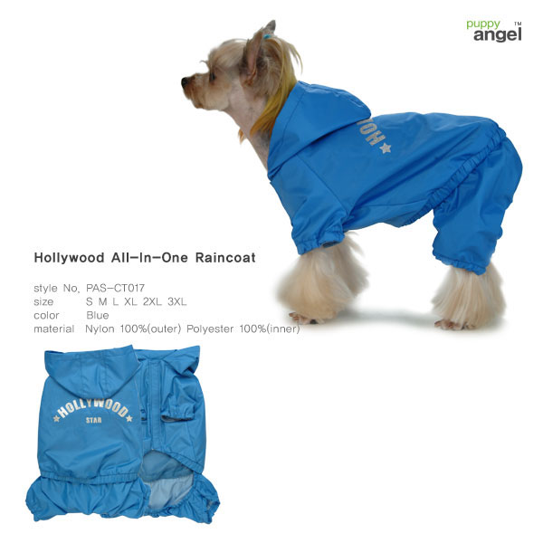 Hollywood All-In-One Raincoat - Blå