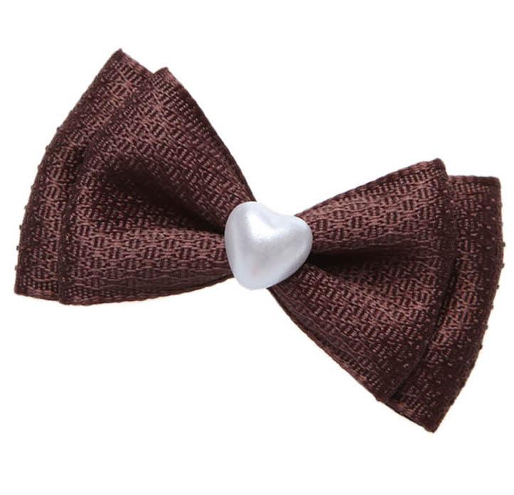 Heart pearl bow Hairpin
