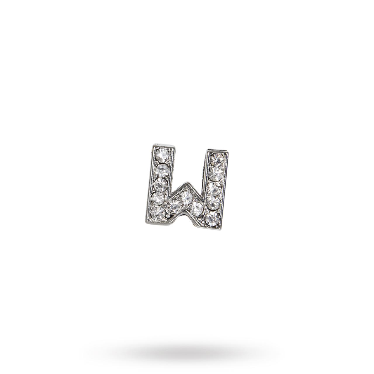Rhinestone Crystal Letters W