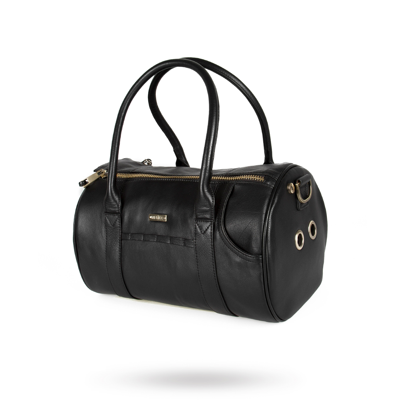 Pet Carrier Black Leather Small