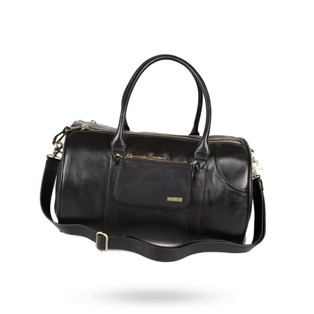 Pet Carrier Black Leather Medium