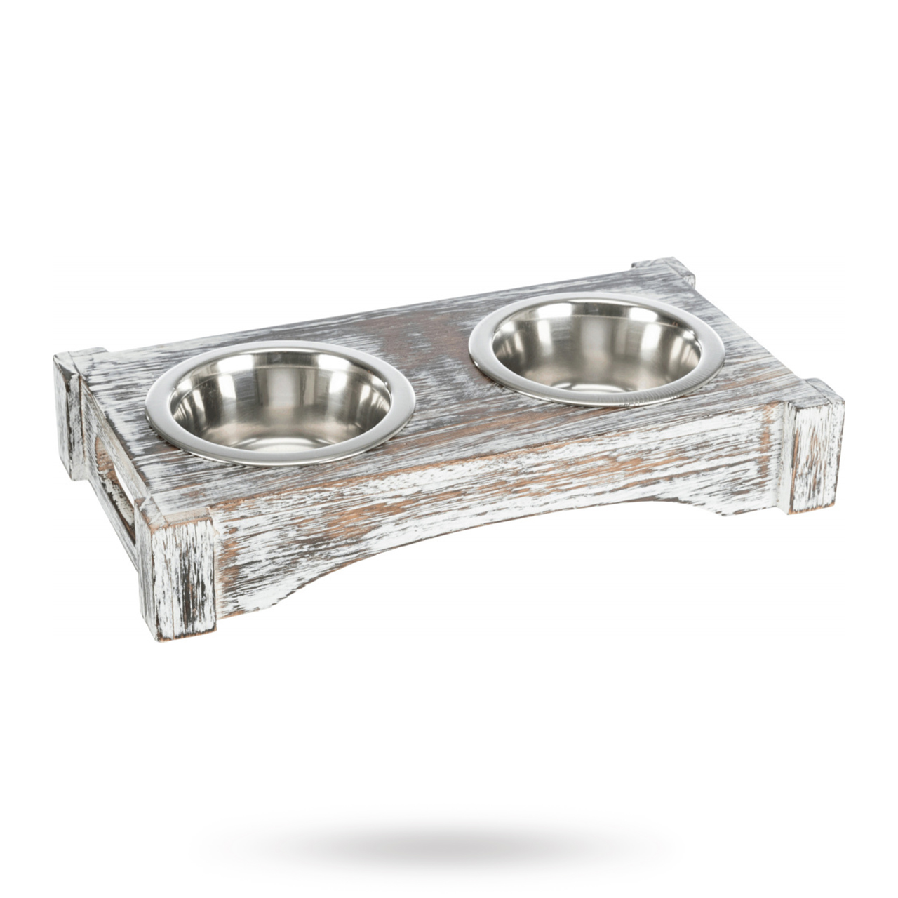 Matbar Vit Trä/Rostfritt Stål