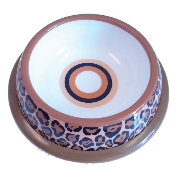 NewAge Pet Pawproof Plastic Pet Dish - Leopard Med - Mat / Godis