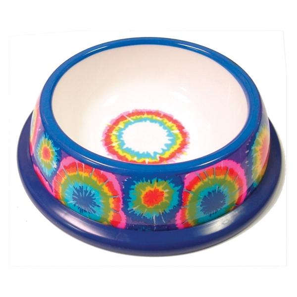 NewAge Pet Pawproof Plastic Pet Dish - Tie Dye - Mat / Godis