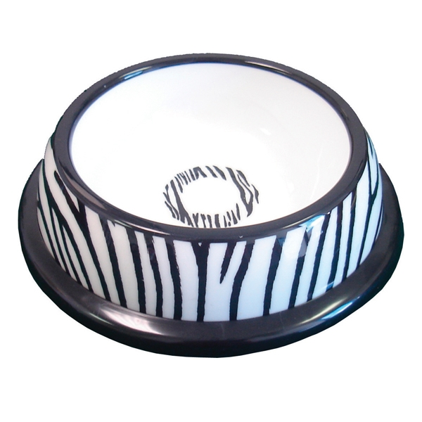 NewAge Pet Pawproof Plastic Pet Dish - Zebra Mediu - Mat / Godis