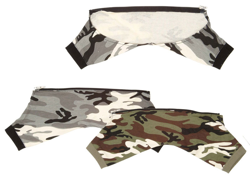 Military Pants for 4 Legs Grå