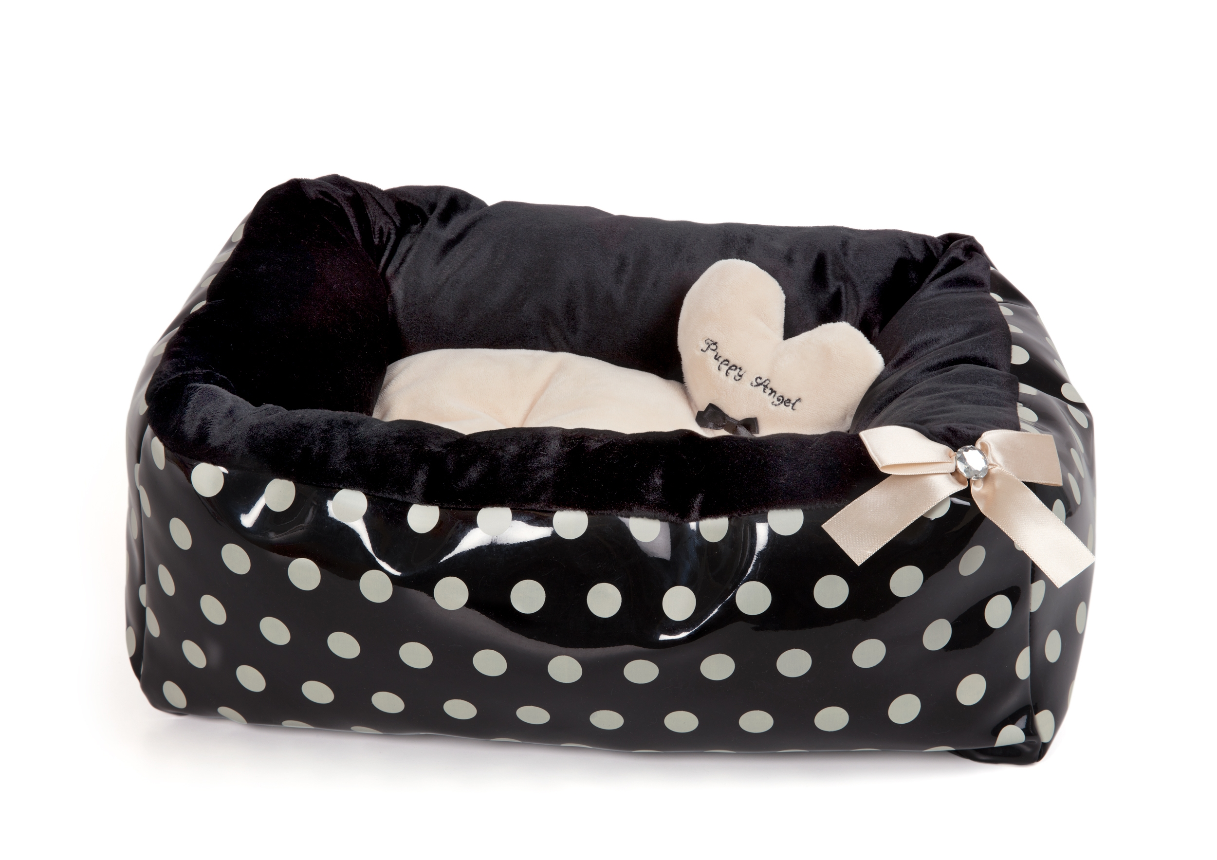 Polkadot Ease Bed - Beige