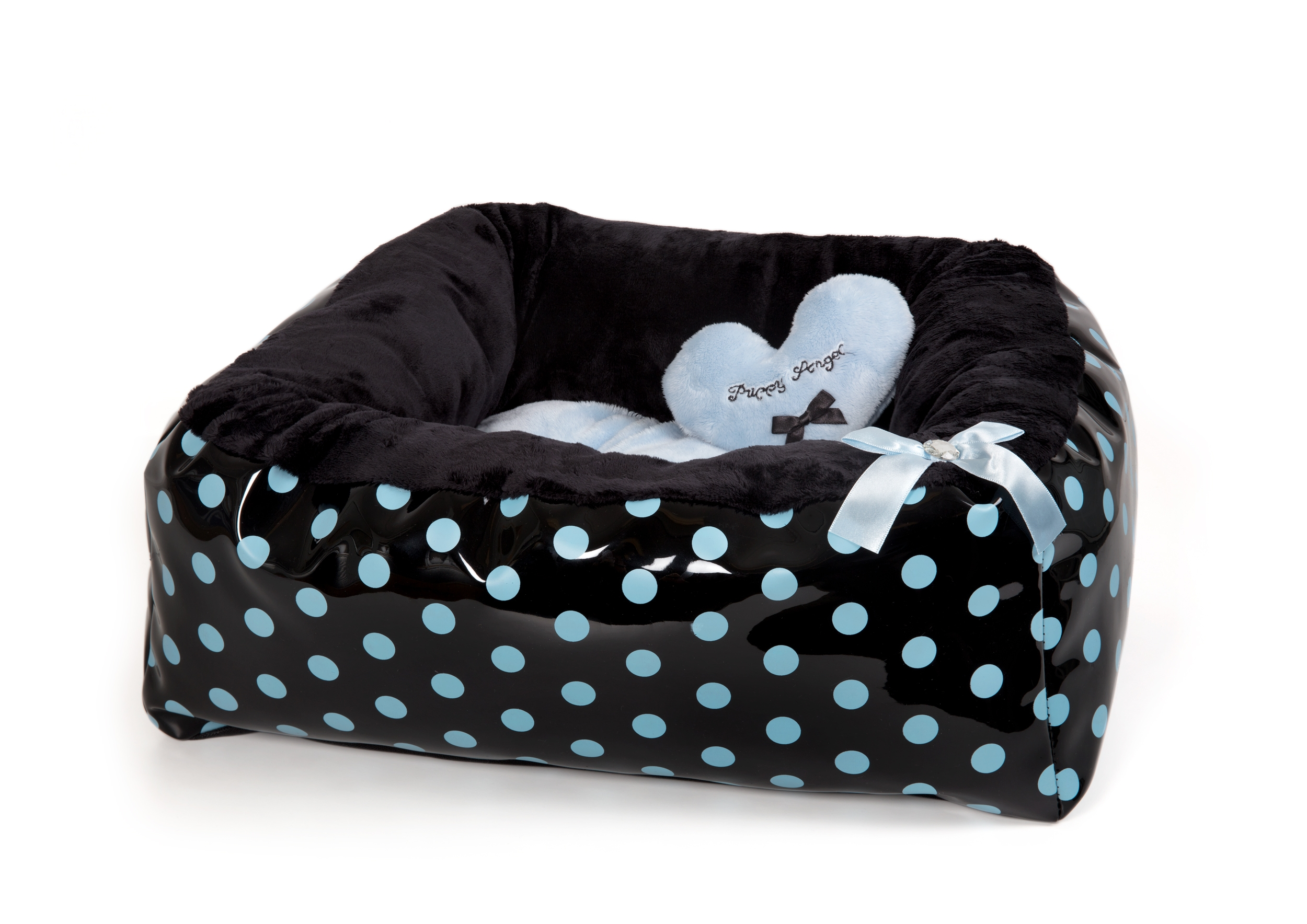 Polkadot Ease Bed - Blue