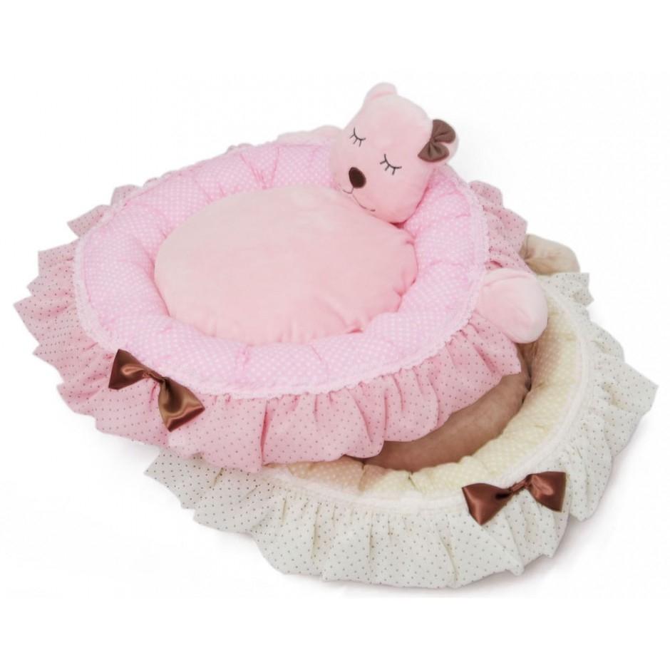 Zzz Bear Bed - Pink