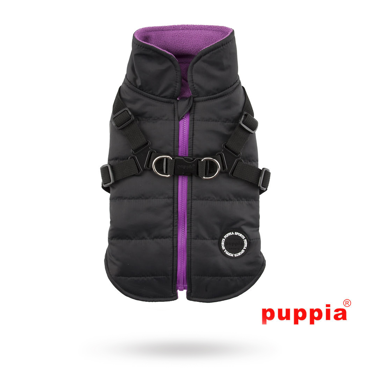 Mountaineer II Black - Fodrat Hundtäcke med Integrerad Sele