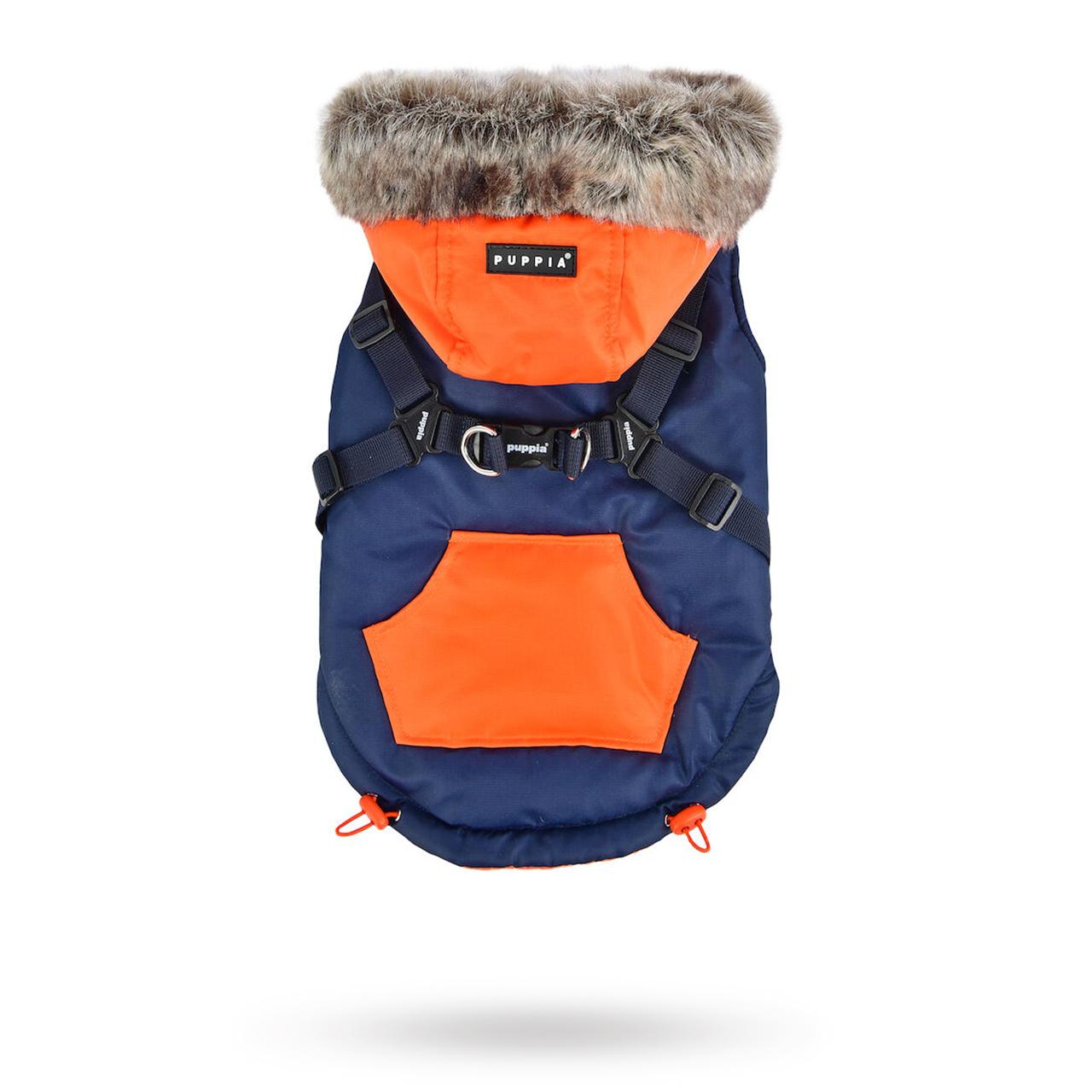 Orson Navy/Orange - Hundtäcke med Luva och Integrerad Sele