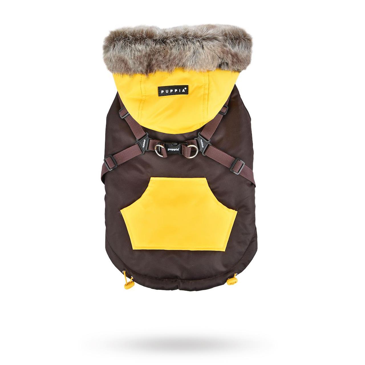 Orson Brown/Yellow - Hundtäcke med Luva och Integrerad Sele