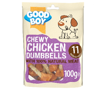 Chewy Chicken Dumbbells 100g