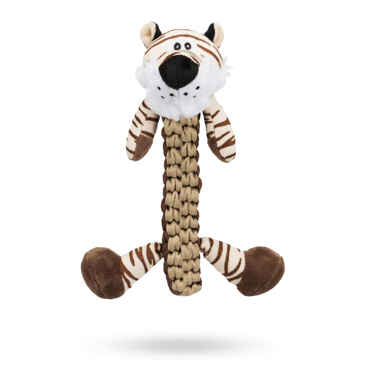 Tiger - Flätad Hundleksak Med pip