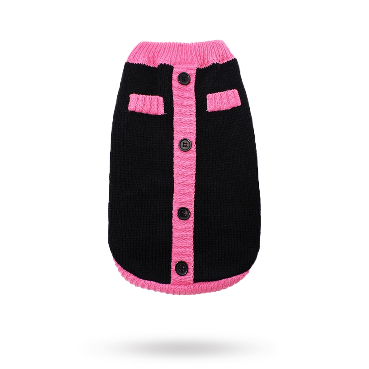 Black & Pink Mod - Stickad Hundtröja