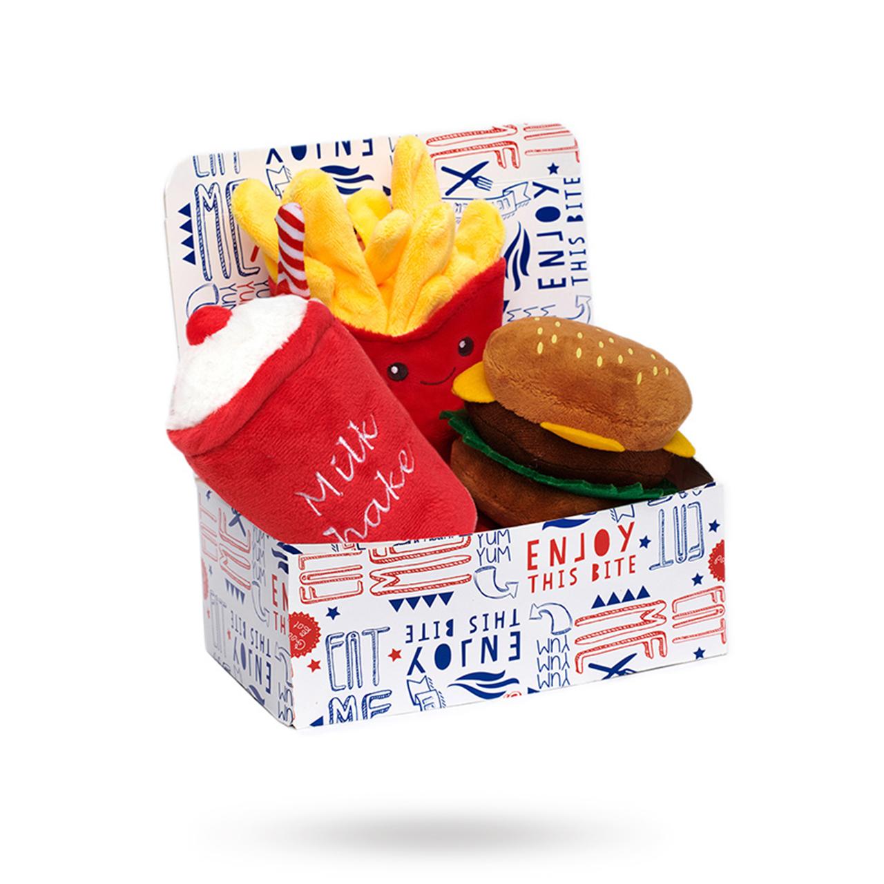 Hamburger Meal Deal Box Hundleksak