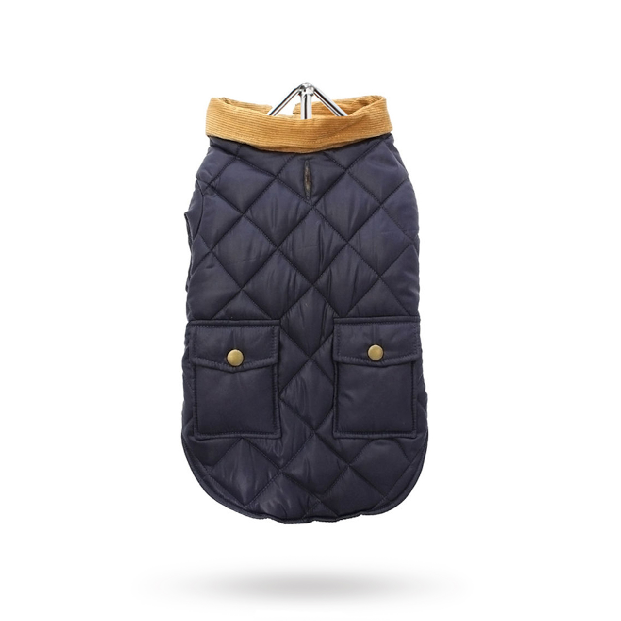Navy Quilted Town & Country - Hundjacka