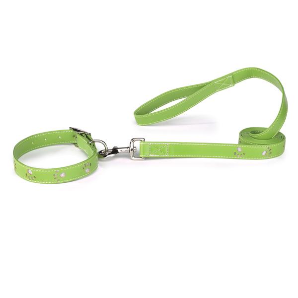Sparkle Paw Dog Halsband - Grön - XL
