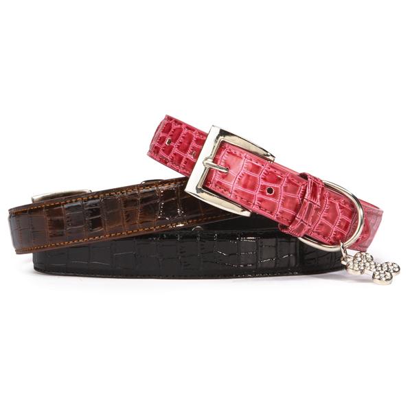 Croco Halsband - Rosa - XS