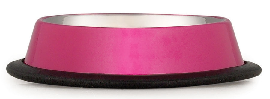 Anti-Skid Dog Bowl - Cerise - Mat / Godis