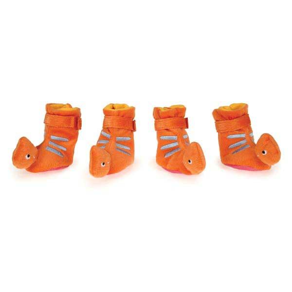 Dino Orange - Hundtofflor - Small - Hundkläder