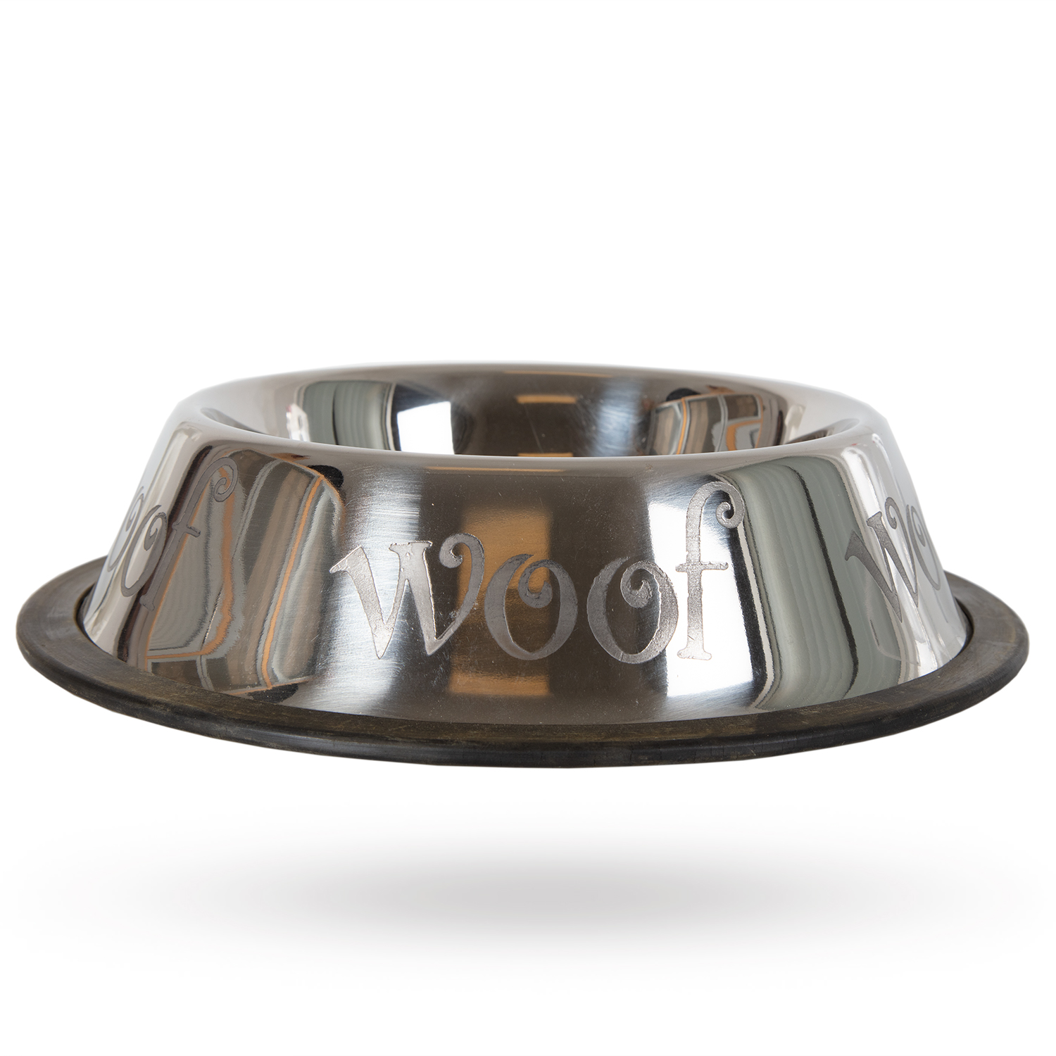 Non-Tip Stainless Steel Bowl - Woof 10dl - Mat / Godis